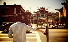 Crossing in Chinatown at Noon
